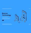 beacon wireless technology isometric web banner vector image vector image
