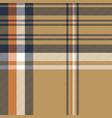 beige plaid tartan diagonal seamless fabric vector image vector image