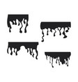 black dripping stain set oil sauce or paint vector image vector image