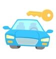 Blue car icon cartoon style vector image