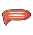 cartoon bubble speech talk message communication vector image vector image