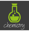 chemistry flask research design banner and vector image vector image