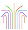 colorful plastic drinking straws vector image