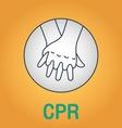 CPR vector image