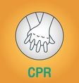 CPR vector image vector image