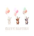 Cute Bunny set vector image vector image
