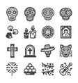 day dead icon vector image vector image