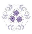 decorative floral purple ornament vector image vector image