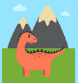 dinosaur and wild nature vector image vector image