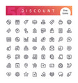 discount line icons set vector image