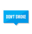 dont smoke price tag vector image vector image