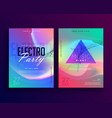 electro music colorful party event flyer template vector image vector image