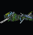 exercise and play text background word cloud vector image vector image