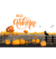 fall countryside scenery vector image