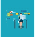 Flat design concepts for consulting teamwork vector image
