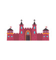 gothic medieval castle two powerful red brick vector image