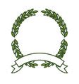 green olive branches forming a circle with thick vector image vector image