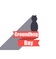 Groundhog day marmot in a flat style with shadow