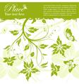 grunge floral frame butterfly vector image vector image