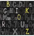 Grunge seamless font wallpaper vector image vector image