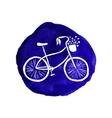Hand-drawn retro style bicycle Watercolor vector image vector image