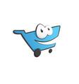 happy shopping cart symbol shopping b vector image vector image