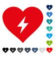 heart power icon vector image