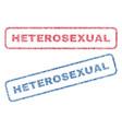 Heterosexual textile stamps vector image