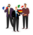 international male business team isolated vector image vector image