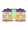 kindergarten or school building cartoon flat style vector image vector image