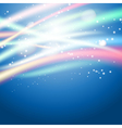 light on blue background vector image vector image