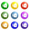 man head icons set vector image vector image