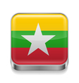 Metal icon of Myanmar vector image vector image