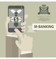 Mobile banking phone vector image