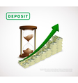 Money Prosperity Realistic Business Template vector image
