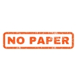 No Paper Rubber Stamp vector image vector image