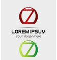 Number seven 7 logo icon template elements vector image vector image