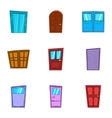 Opening icons set cartoon style vector image vector image