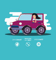 person driving for driver safely campaign set vector image vector image