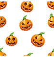 pumpkin pattern horror halloween vector image