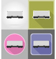 railway transport flat icons 04 vector image vector image