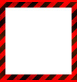 red and black stripes with grunge texture warning vector image vector image