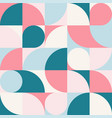 seamless blue-red pastel abstract geometric print vector image vector image