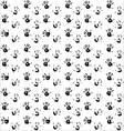 Seamless pattern hand print black vector image vector image