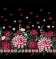 seamless pattern with dahlia peonies wild vector image vector image