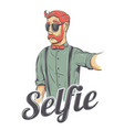 selfie hipster vector image