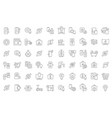 set line icons smart house vector image