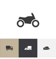 set of 4 editable transport icons includes vector image vector image