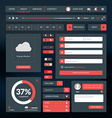 Set of flat design UI elements for website and vector image