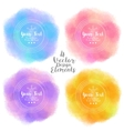 Set of four bright summer design elements vector image vector image
